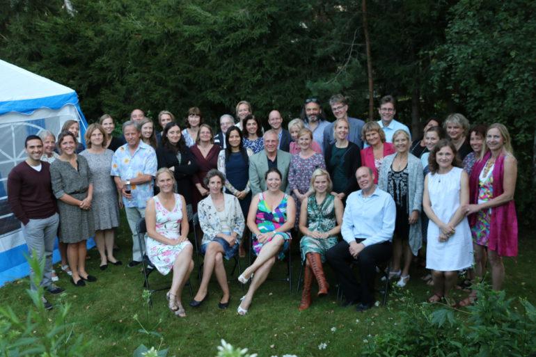 Härlig stämning i Laras trädgård när vi i somras firade de kollegor som fyllt eller fyller 40 år under 2015, nämligen Lara Dani, Ola Börjesson, Christina Stranger, Saedis Saevarsdottir och Karina Gheorghe.